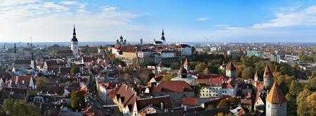 tallinn: Panorama of the Tallinn Old Town, Estonia Stock Photo