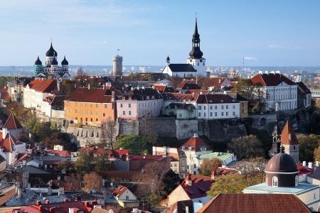 View of the Tallinn Old Town, Estonia photo