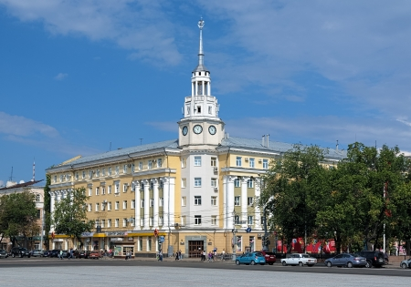 voronezh: Voronezh, Building of Regional Council of Trade Unions  former Hotel Voronezh  on the Lenin Square, Russia