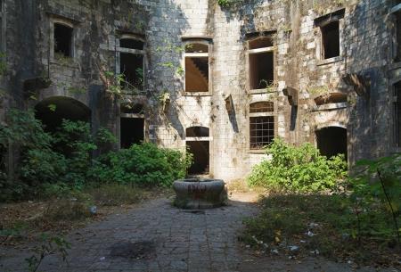 Abandoned fort in Kotor Bay, Montenegro