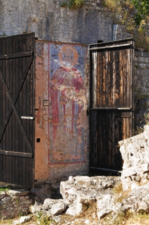 Fresco in Bar Old Town, Montenegro photo