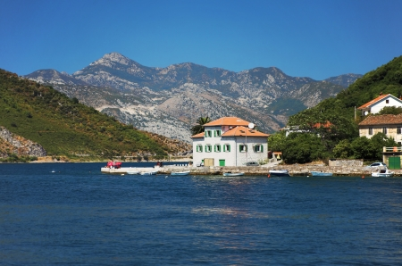 House on the coast of Kotor Bay, Montenegro
