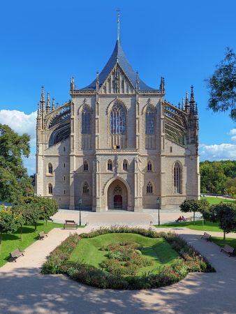 St Barbara Church in Kutna Hora - one of the most famous Gothic churches in central Europe, Czech Republic photo