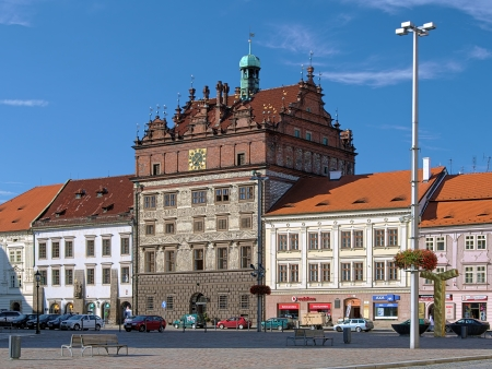 magistrate: Town Hall in Renaissance style in Plzen, Czech Republic