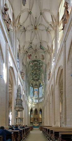 high altar: Interior of St Barbara Church in Kutna Hora, Czech Republic Editorial