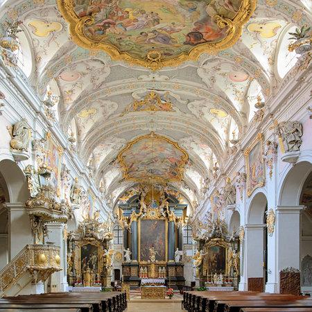 nave: Interior of St Emmeram Basilica in Regensburg, Germany