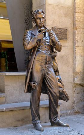 leopold: Monument of Leopold von Sacher-Masoch in Lviv, Ukraine