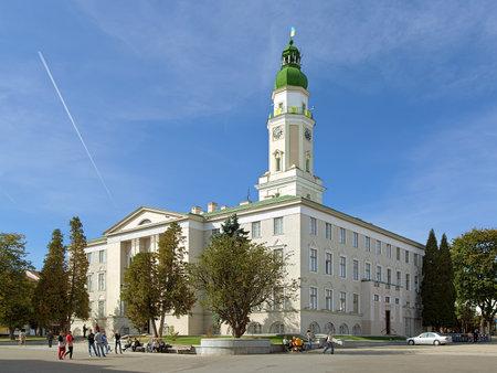 eclecticism: City Hall of Drohobych, Lviv Oblast, Ukraine