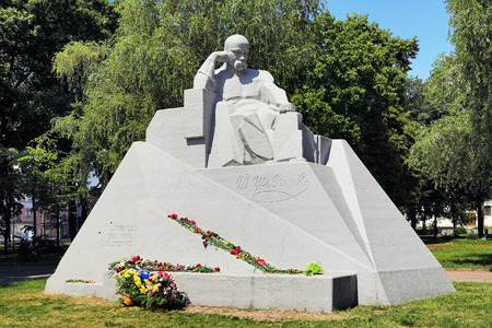 constructivism: Monument of Taras Shevchenko in Poltava, Ukraine
