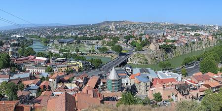tbilisi: Panorama di Tbilisi da Narikala Fortezza, Georgia Archivio Fotografico