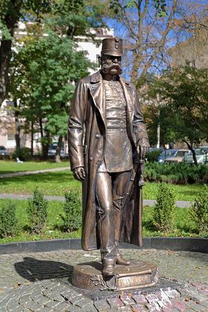 franz: Monument of Emperor Franz Joseph I in Chernivtsi, Ukraine Stock Photo