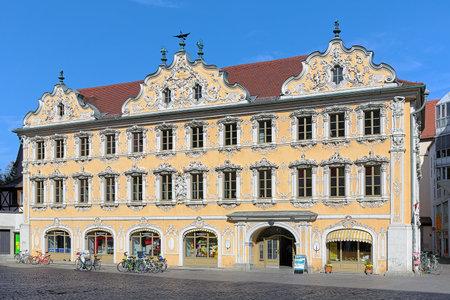 bayern old town: Falcon House (Haus zum Falken) in Wurzburg, Germany Editorial