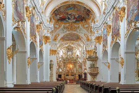alte: Interior of Old Chapel (Alte Kapelle) in Regensburg, Germany