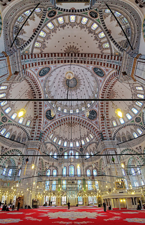 mehmed: Interior of Fatih Mosque (Mosque of sultan Mehmed the Conqueror) in Istanbul, Turkey Editorial