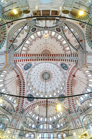 conqueror: Inner dome painting of Fatih Mosque (Mosque of sultan Mehmed the Conqueror) in Istanbul, Turkey
