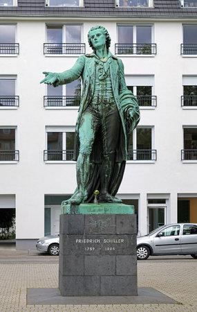 historian: Friedrich Schiller monument in Mannheim, Germany