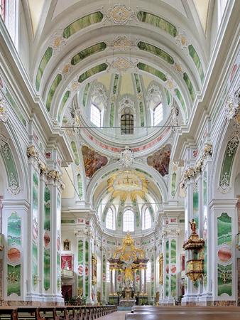 jesuit: Interior of Jesuit Church in Mannheim, Germany Stock Photo