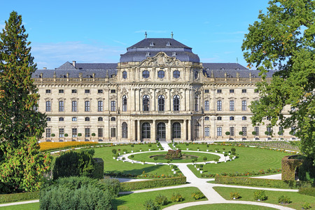 bayern old town: Wurzburg Residence and Court Gardens in Wurzburg, Germany
