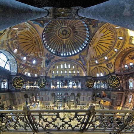 seraphim: Interior of the Hagia Sophia in Istanbul, Turkey Editorial