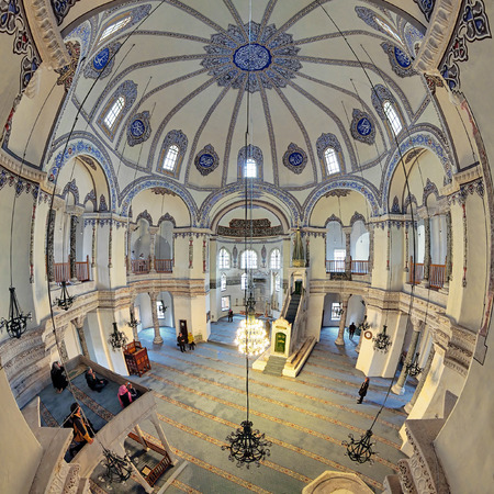 bacchus: Interior of the Little Hagia Sophia (formerly the Church of the Saints Sergius and Bacchus, later converted into a mosque) in Istanbul, Turkey Editorial
