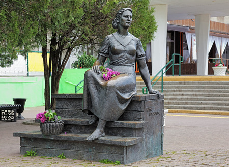 foremost: Monument to Nonna Mordyukova, one of the foremost actresses of the Soviet Cinema, in Yeysk, Russia