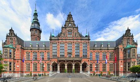 groningen: Hoofdgebouw van de Universiteit van Groningen, Nederland
