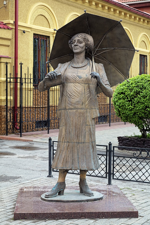 greatest: Monument to Faina Ranevskaya, one of the greatest Soviet actresses in both tragedy and comedy, in Taganrog, Russia