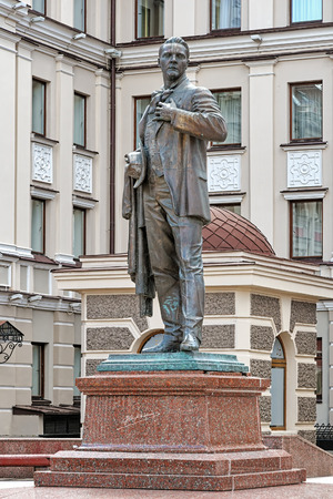 hometown: Monument to the Russian opera singer Feodor Chaliapin in the his hometown of Kazan, Republic of Tatarstan, Russia Stock Photo
