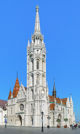 castle district: Matthias Church in Budas Castle District of Budapest, Hungary Editorial