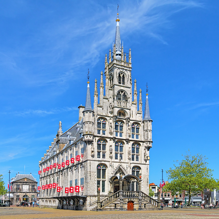 town halls: The Town Hall of Gouda, one of the oldest gothic town halls in Netherlands
