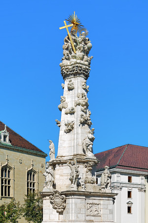 castle district: Holy Trinity Column in Budas Castle District of Budapest, Hungary Editorial