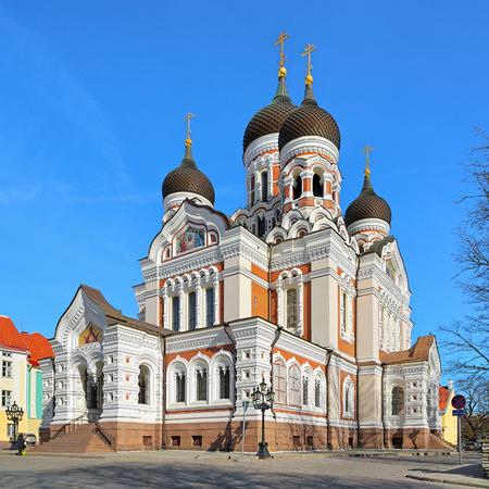 kokoshnik: Alexander Nevsky Cathedral in the Tallinn Old Town, Estonia