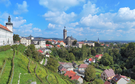 jesuit: View of Kutna Hora with St. James Church and fragment of Jesuit College, Czech Republic