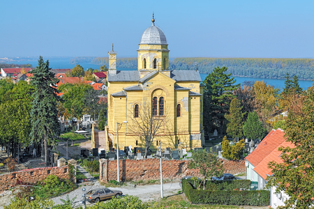 martyr: Church of the Holy Great Martyr Dimitrije Solunski Demetrius of Thessaloniki, known as Hariseva kapela, on the Gardos hill in the Zemun district of Belgrade, Serbia