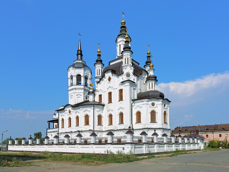 Church of Zechariah and Elizabeth, a monument of Siberian Baroque, in Tobolsk, Russia Stock Photo