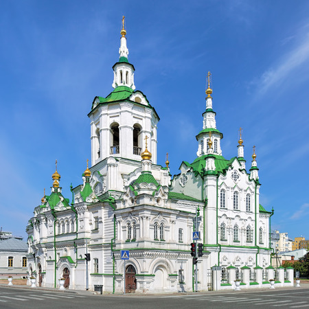 Spasskaya Church (Church of the Savior) in Tyumen, Russia. Built in 1796-1819 in Siberian Baroque and reconstructed in 1910s in neorussian style, it is one of the most expressive churches in Siberia.