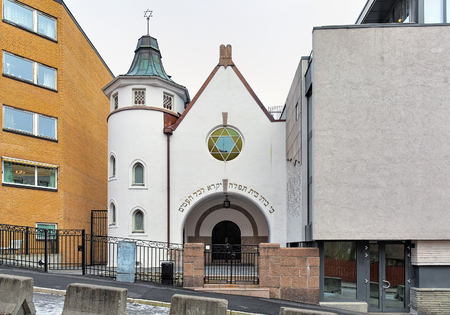 jewish community: Oslo Synagogue, Norway. The building was inaugurated in 1920 by the Jewish community of Norway (Det mosaiske trossamfunn).