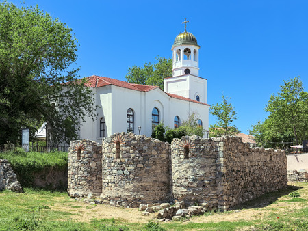 Archaeological excavations of St. Nicholas monastery on the background of St. Cyril and St. Methodius Church in Sozopol, Bulgaria