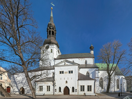Dome Church (Cathedral of Saint Mary the Virgin) on the Toompea Hill in Tallinn, Estonia. Originally established by Danes in the 13th century, it is the oldest church in Tallinn and mainland Estonia. 版權商用圖片