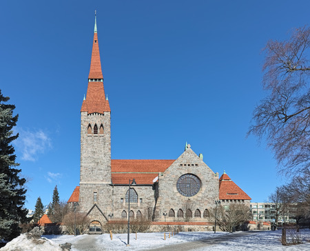 Tampere Cathedral in the National Romantic style, Finland. It was built between 1902 and 1907. Stockfoto