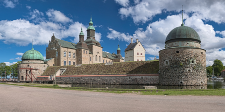 VADSTENA, SWEDEN - AUGUST 25, 2013: Vadstena Castle. Construction of the castle was started in 1545. The castle was completed in 1620.