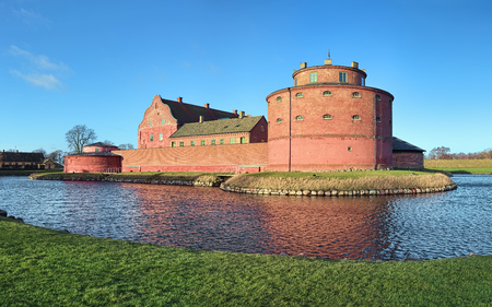 LANDSKRONA, SWEDEN - DECEMBER 12, 2015: Landskrona Citadel, one of the best preserved water fortresses in the Nordic countries. It was initially built in 1549-1559 by Christian III of Denmark. Redactioneel