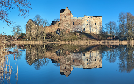 ALAND ISLANDS, FINLAND - JANUARY 5, 2012: Kastelholm Castle in Sund municipality. The castle was first mentioned in 1388. Redactioneel