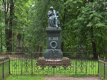 Tartu, Estonia. Monument to Karl Ernst von Baer, a scientist and medical man, the founding father of embryology. The monument was erected in 1886.