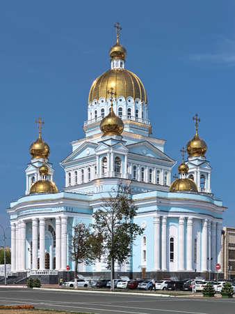 Cathedral of St. Theodore Ushakov in Saransk, Russia. It is named for Russian saint and admiral Fyodor Ushakov.