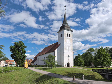 Church of St. John the Baptist in Viljandi, Estonia. The church was built in the 17th century.