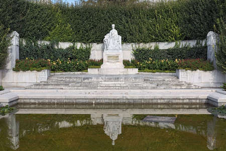 Empress Elisabeth Monument in Volksgarten park of Vienna, Austria. The monument was unveiled on June 4, 1907. Editorial