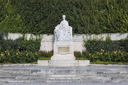 VIENNA, AUSTRIA - OCTOBER 1, 2018: Empress Elisabeth Monument in Volksgarten park. The monument by sculptor Hans Bitterlich and architect Friedrich Ohmann was unveiled on June 4, 1907. Editorial