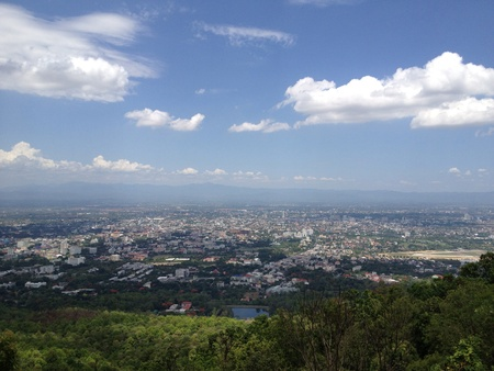 chiang mai: View of Chiang Mai Stock Photo