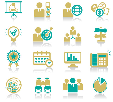 16 Business Icons Set 01